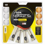 Stiga® Table Tennis Performance 4-Player Racket and Ball Set