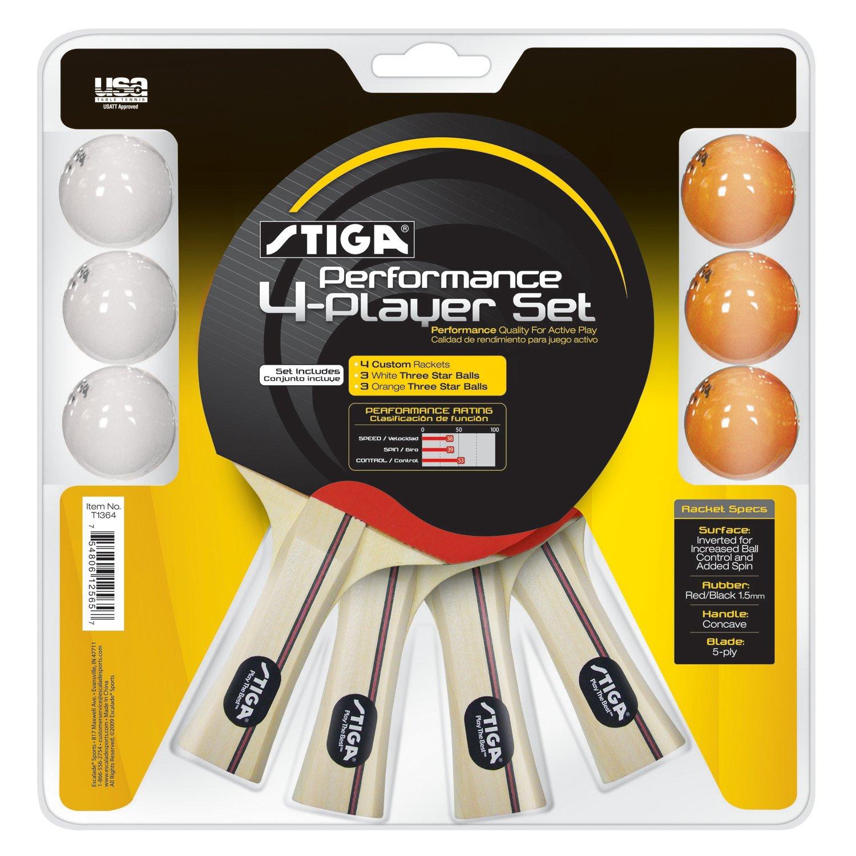 Stiga® Table Tennis Performance Player Racket and Ball