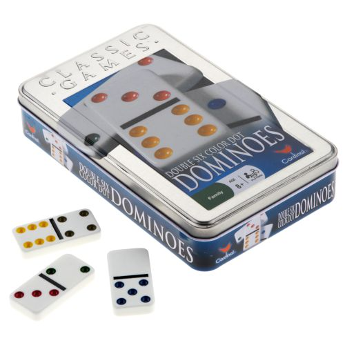 Cardinal® Double-6 Color Dot Dominoes - view number 1