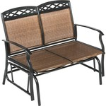 Mosaic Steel Sling 2-Person Glider Chair