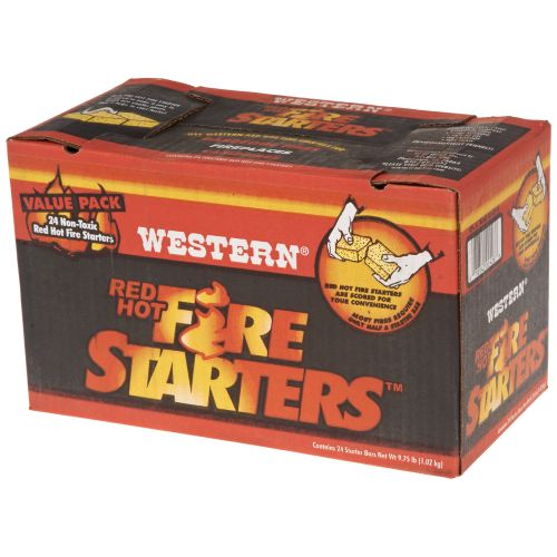 Western Red Hot Fire Starters 24-Pack
