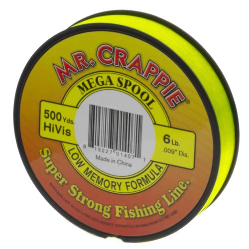 Display product reviews for Mr. Crappie® MEGA Filler 6 lb. - 500 yards Monofilament Fishing Line