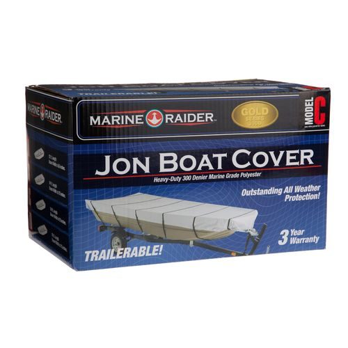 Display product reviews for Marine Raider Model C 300-Denier Boat Cover Fits 16' Jon Boats