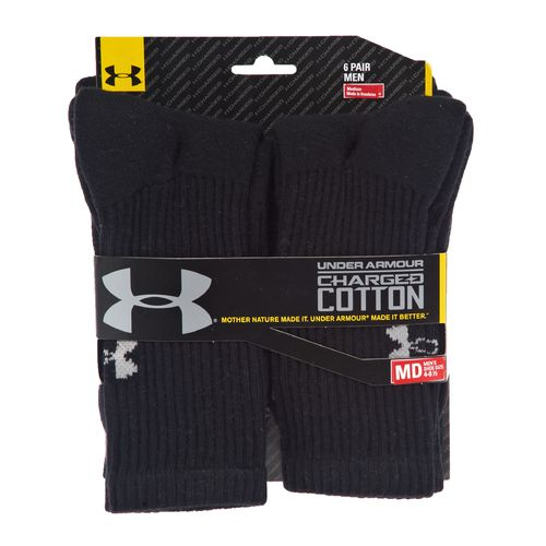 Under Armour® Adults' Charged Cotton® Crew Socks 6-Pair