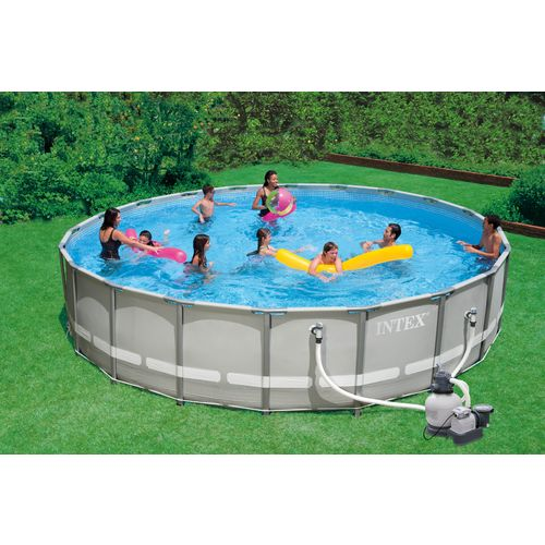 Intex 20 39 X 52 Ultra Frame Pool Set With 1 600 Gal Sand