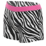 Soffe Girls' Zebra POP Authentic Short