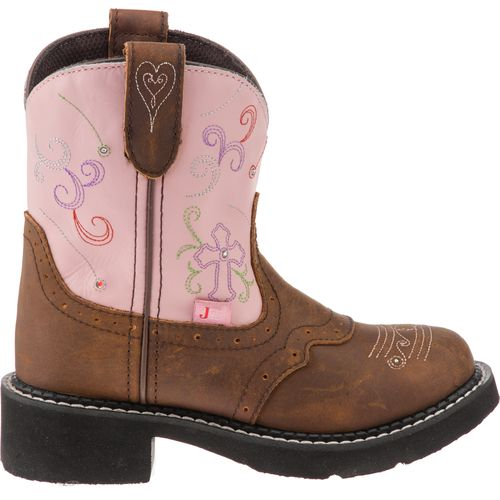 Display product reviews for Justin Girls' Bay Apache with Twinkle Lights Casual Western Boots
