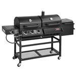 Outdoor Gourmet® Triton Original 4-Burner Propane and Charcoal Grill and Smoker Combo