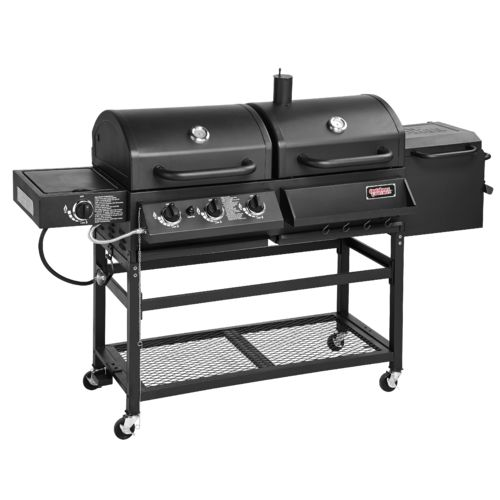 Hybrid Gas And Charcoal Grill Bbq Smoker Box Combo
