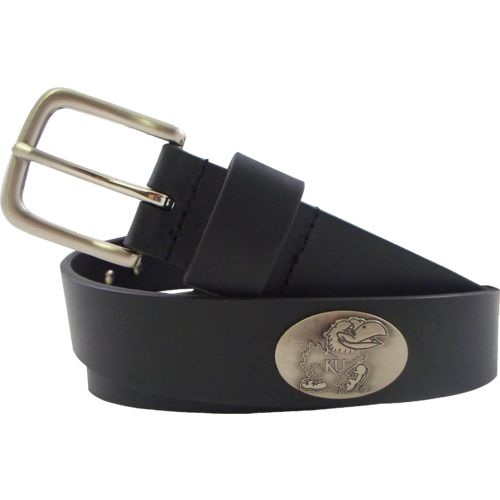 CLC Men's University of Kansas Leather Concho Belt
