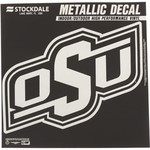"Stockdale Oklahoma State University 6"" x 6"" Metallic Vinyl Die-Cut Decal"