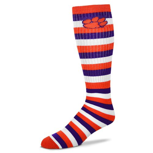 For Bare Feet Adults' Clemson University Pro Stripe Tube Socks