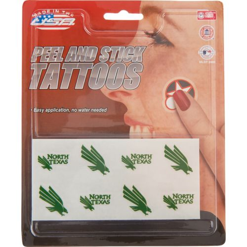 Rico University of North Texas Temporary Tattoo Set