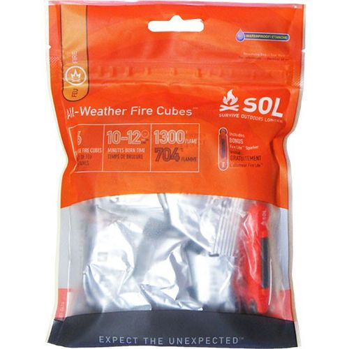 Display product reviews for Adventure Medical Kits Survive Outdoor Longer® All-Weather Fire Cubes 6-Pack