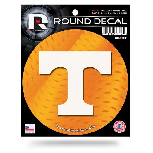 Rico University of Tennessee Round Decal - view number 1