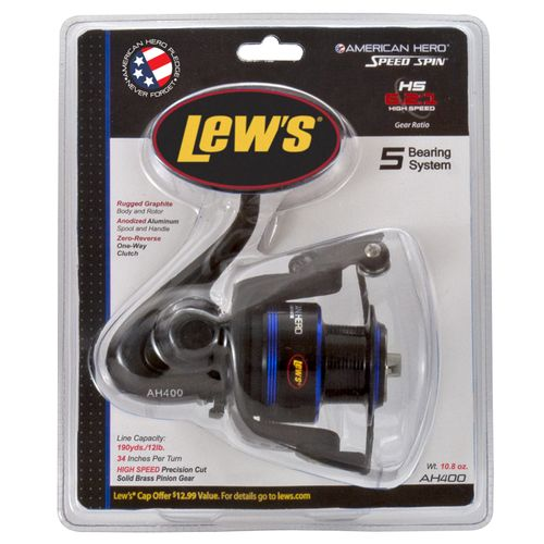 Lew's® American Hero® 400C Spinning Reel Convertible