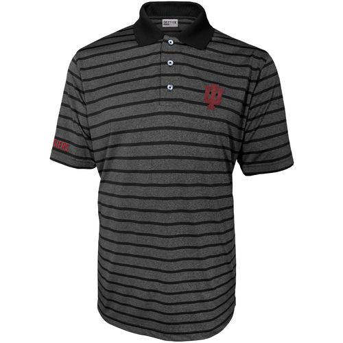 Majestic Men's Indiana University Section 101 Heather Stripe Golf Polo Shirt