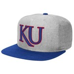adidas™ Men's University of Kansas Flat Brim Snapback Cap