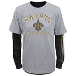NFL Boys' New Orleans Saints Classic Fade T-shirt Combo Pack