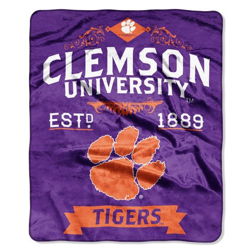 The Northwest Company Clemson University Label Raschel Throw - view number 1