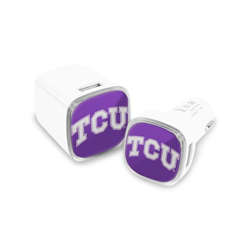 Mizco Texas Christian University USB Chargers 2-Pack