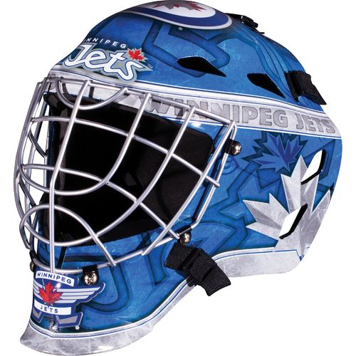 Franklin Boys' Winnipeg Jets GFM 1500 Goalie Face Mask