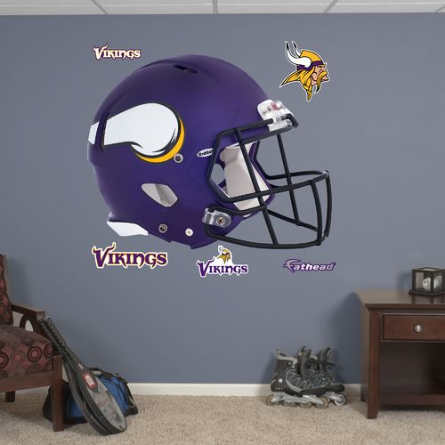 Fathead Minnesota Vikings Real Big Helmet Decal - view number 1