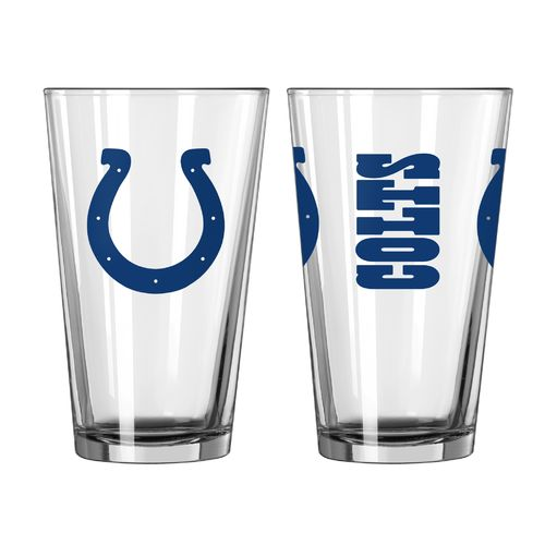 Boelter Brands Indianapolis Colts Game Day 16 oz. Pint Glasses 2-Pack