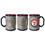 Boelter Brands Texas Rangers Stone Wall 15 oz. Coffee Mugs 2-Pack