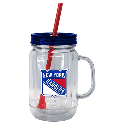 Boelter Brands New York Rangers 20 oz. Handled Straw Tumblers 2-Pack