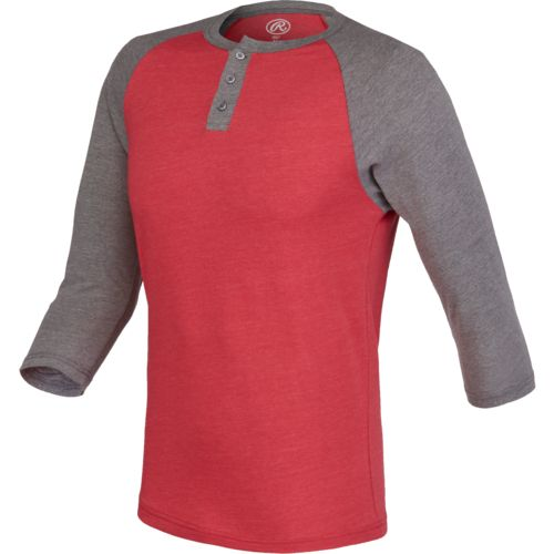 Rawlings Kids' 2-Tone Heathered Henley Shirt - view number 1