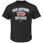 Majestic Men's San Antonio Spurs Hardwood Classics Heart and Soul T-shirt