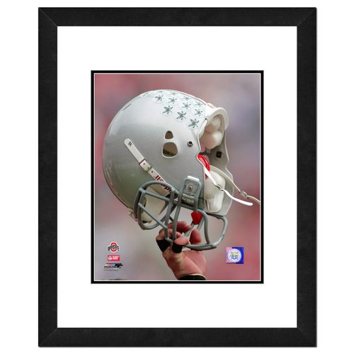 Photo File Ohio State University Helmet 16' x 20' Matted and Framed Photo