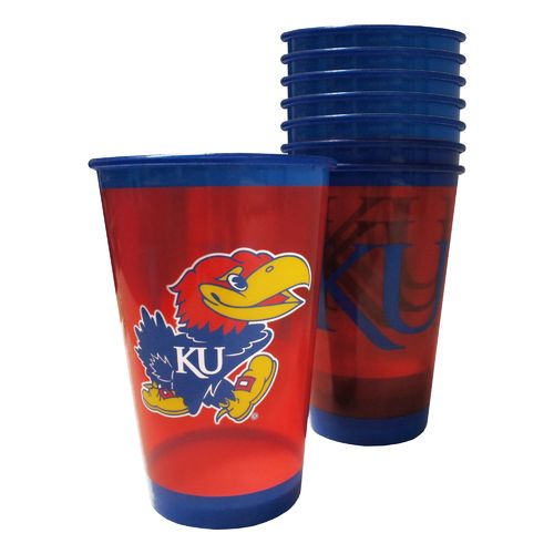 Boelter Brands University of Kansas 20 oz. Souvenir Cups 8-Pack