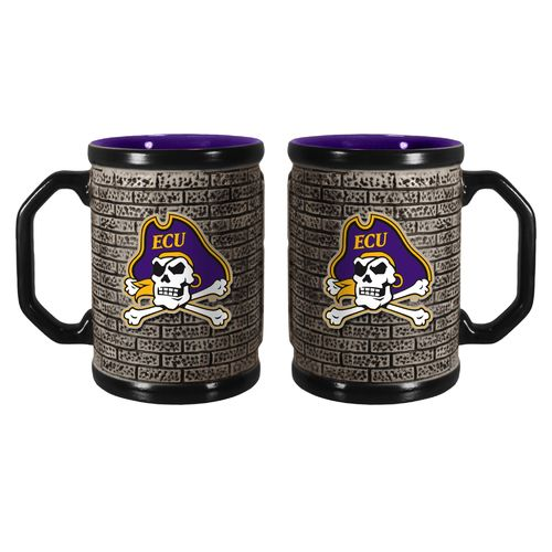 Boelter Brands East Carolina University Stone Wall 15 oz. Coffee Mugs 2-Pack