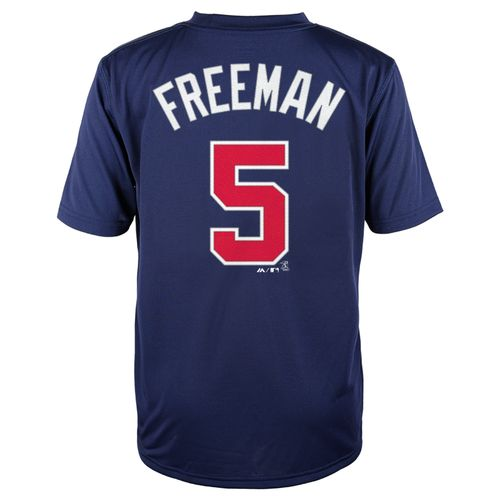 Majestic Boys' Atlanta Braves Freddie Freeman #5 Short Sleeve T-shirt