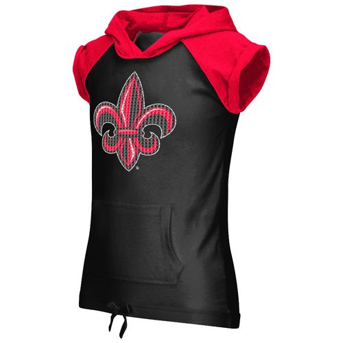 Colosseum Athletics Girls' University of Louisiana at Lafayette Jewel Short Sleeve Hoodie