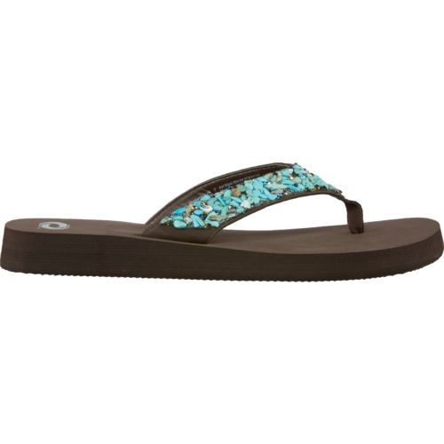 Display product reviews for O'Rageous Women's Turq Stones Flip-Flops
