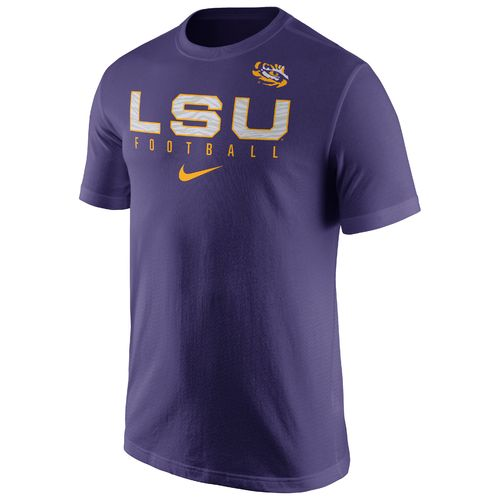 Nike™ Men's Louisiana State University Short Sleeve Practice T-shirt