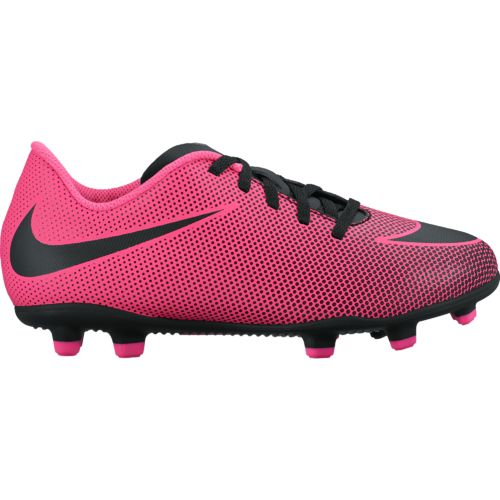 Girls Youth Junior Unisex NIKE Soccer Cleats Shoes~Black/Pink~Size 6Y