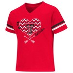Colosseum Athletics Girls' Texas Tech University Football Fan T-shirt