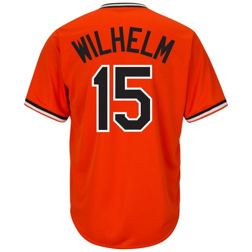 Majestic Men's Baltimore Orioles Hoyt Wilhelm #15 Cooperstown Cool Base 1965-66 Replica Jersey