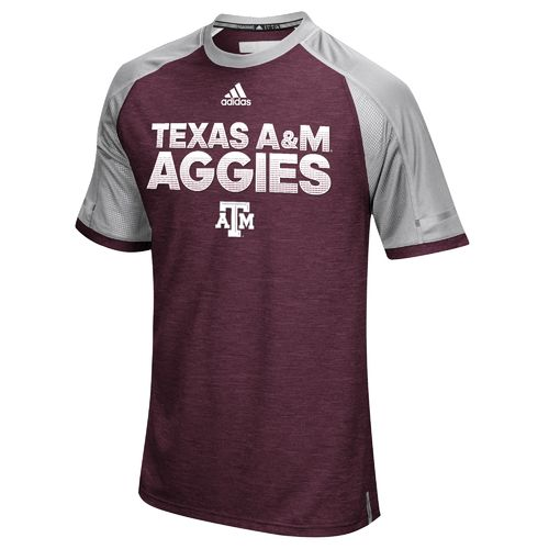 adidas™ Men's Texas A&M University Sideline Performance T-shirt