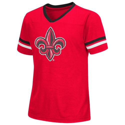 Colosseum Athletics™ Girls' University of Louisiana at Lafayette Titanium T-shirt
