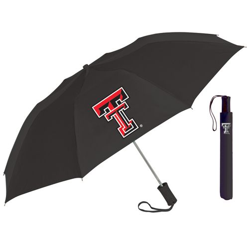 Storm Duds Adults' Texas Tech University Automatic Folding Umbrella - view number 1