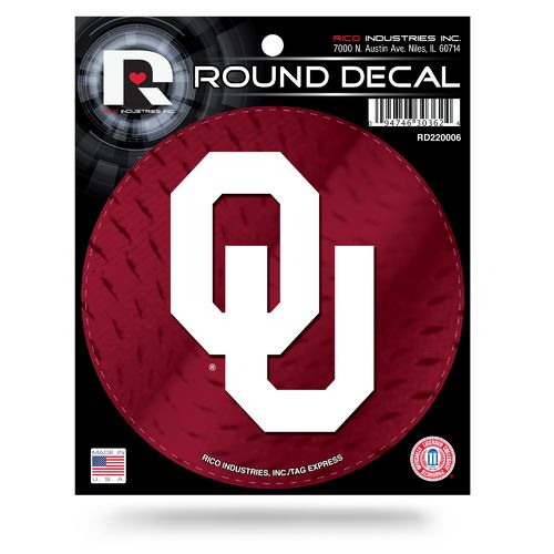Rico University of Oklahoma Round Decal