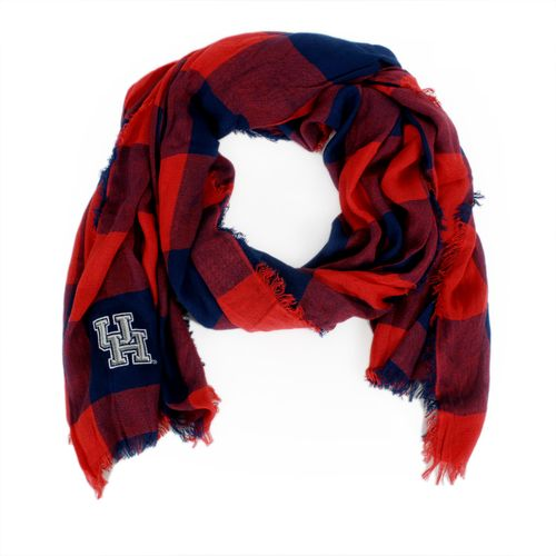ZooZatz Women's University of Houston Buffalo Check Collegiate Scarf