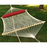 Algoma 2-Point Double Size Cotton Rope Hammock with Oversize Pillow - view number 1