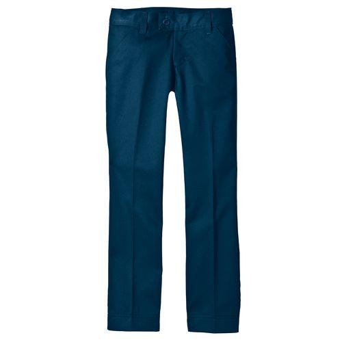 Dickies Girls' Slim Fit Straight Leg Stretch Pant