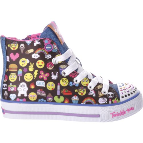 Display product reviews for SKECHERS Girls' Twinkle Toes Shuffles Chat Time Shoes